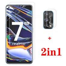2-em-1 protetor de lente da câmera realme 7 pro vidro protetor para oppo realme 7pro telefone capa de película protetora realme7pro 6.4
