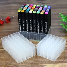 30/40 Slots Marker Pen Storage Holder Brush Pencil Rack Table Stand Organizer Multifunction Tool for Art Markers pen