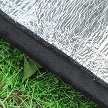Tapete hexagonal em alumínio, almofada à prova de umidade para acampamento, piquenique, ao ar livre