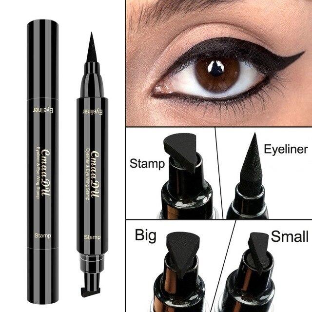 TSMC big Seal Stamp Liquid Eyeliner Pen Waterproof Fast Dry Black Eye Liner Pencil With Eyeliner Cosmetic Double-ended Eyeliner 1