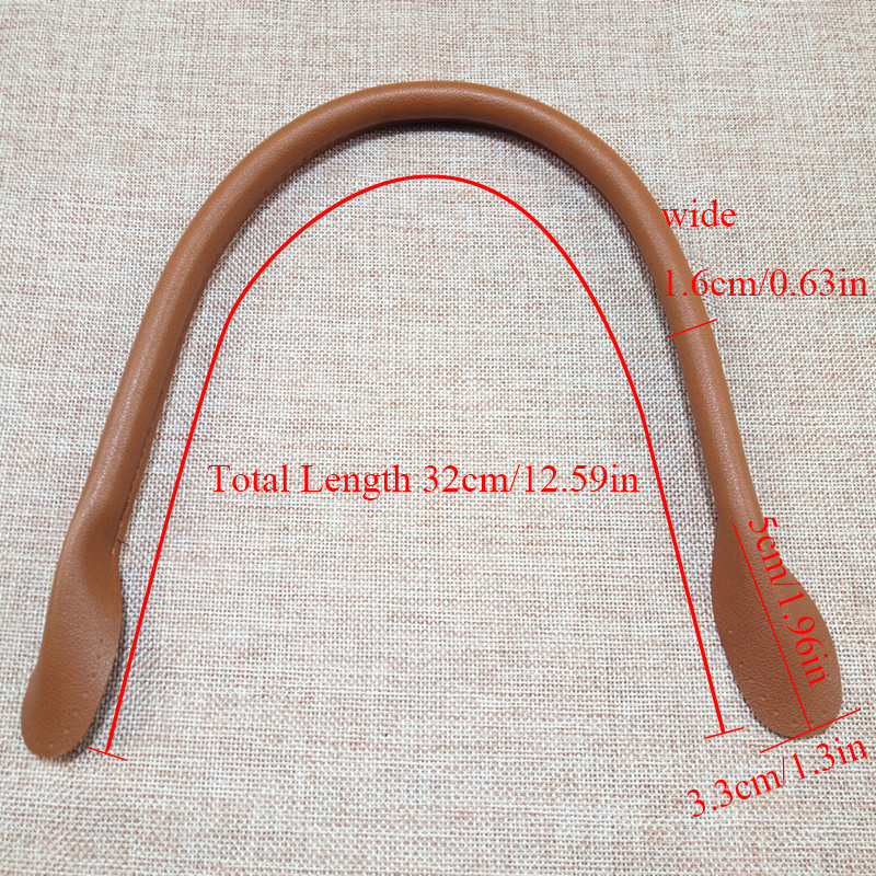 2Pcs 32cm Bag Strap Obag Handle For DIY Handbag Bag Part Accessories Round Ears Solid Color Women Shoulder Bag Strap Anse De Sac