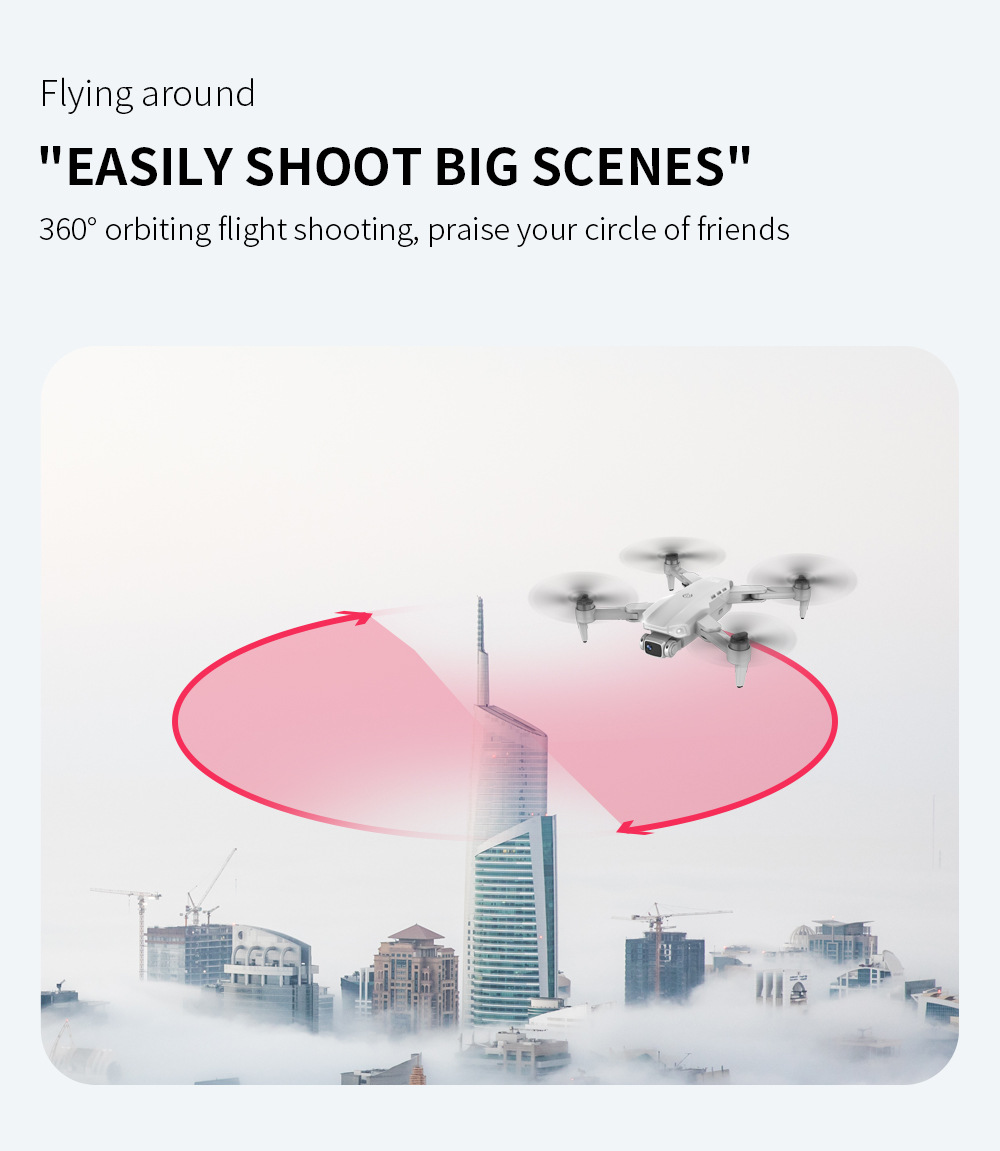 H88f761afdcaa401799849ed941ccab0e2 - L900 Pro Drones 4K HD Dual Camera GPS 5G WIFI FPV Quadcopter Brushless Motor Rc Distance 1.2km Transmission Helicopter Toys