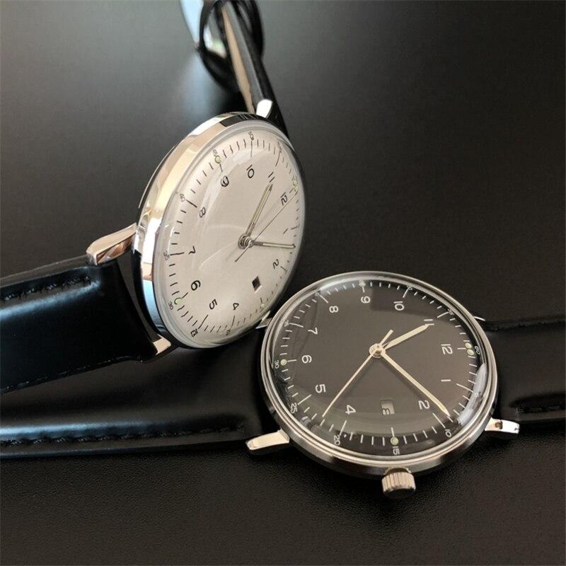 Nuevo reloj conciso de cristal de burbuja a la moda 50M impermeable 316L relojes de acero inoxidable reloj de pulsera de cuarzo para hombres y mujeres hombre