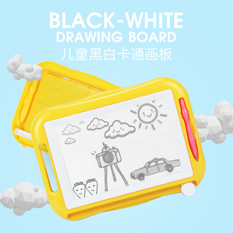 Children Toy Drawing Board Cartoon Magnetic Drawing Board Black And White Writing Board Doodle Board Kindergarten Toys Teaching
