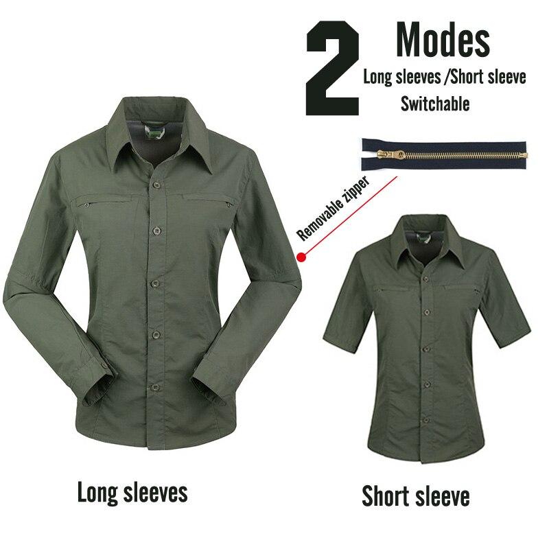 Профессиональные мужские походные футболки дышащие съемные спортивные топы рыбацкий трекинговый охотничий Мужской Быстросохнущий походная куртка - Color: Female1