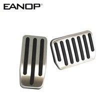 EANOP Auto Fuß Pedal Pads Abdeckungen Bremsbelag Für Tesla Modell 3 Auto Zubehör Aluminium Legierung
