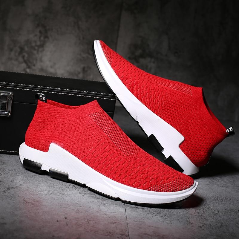 Pure Sock Mens Casual Shoes Zapatos De Hombre Mesh Breath Size 46 Zapatillas Light Sapato Masculino