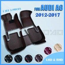 Esteiras do assoalho carro para audi a6 sedan 2012 2013 2014 2015 2016 2017 personalizado pé almofadas automóvel tapete capa