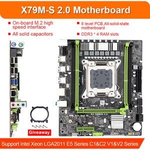 Image 2 - X79 X79M S scheda madre LGA2011 E5 2620 CPU 4pcs x 4GB = 16GB DDR3 1333Mhz 10600 ECC REG di Memoria Set M ATX combo M.2 SSD