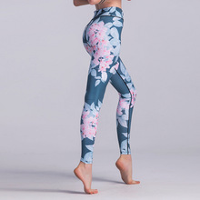 Sexy High Waist Yoga Pants Women Sport Leggings Printed Fitness Push Up Gym Wear Stretch Trousers