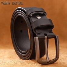 VAMOS KATOAL Brand 100% genuine leather men's pin buckle lux