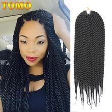 TOMO, 16 цветов, 12 прядей, 12 дюймов, 18 дюймов, Сенегальские, закрученные, косички, волосы для наращивания, Омбре, синтетические, на крючках, косички, волосы для женщин