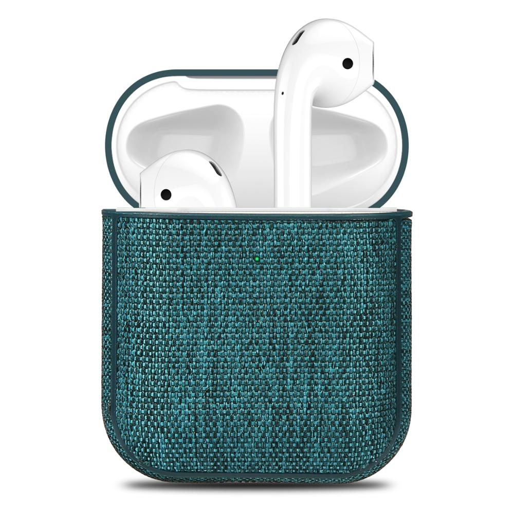 Canvas Cloth Earphone Case For Airpods Reserved Charging Hole Retro Bluetooth Earphone Case For Airpods 2 Full Protective Cover