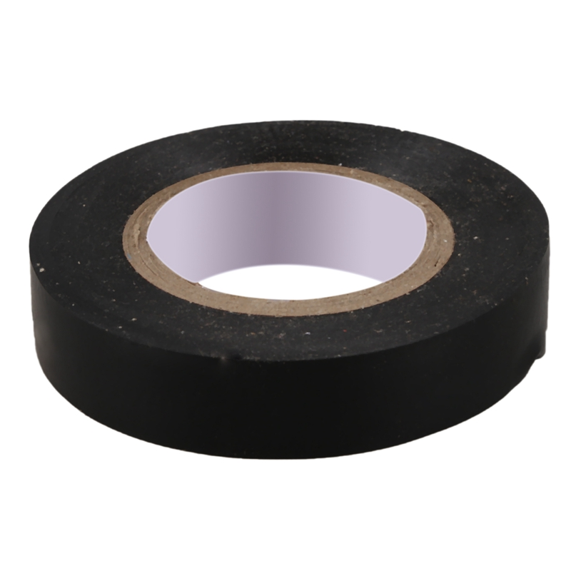 PVC Electrical Wire Insulating Tape Roll Black 20M Length 16mm Wide Black
