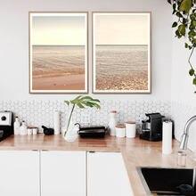 Картина на стену в пляжном океане раскрашенная морском стиле