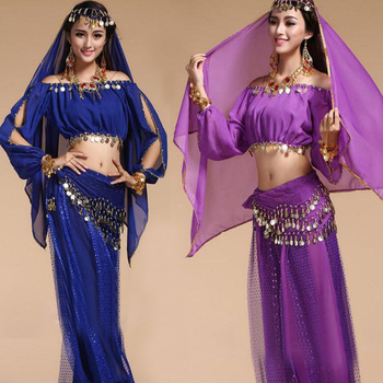 4pcs/Set 2020 New Arrival Sexy Oriental Belly Dance Suits For Women Dancing Practising Bellydance Costumes Design For Women