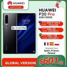 Global Version Huawei P30 Pro 6GB 128GB Kirin 980 Octa Core Smartphone 50x Digital Zoom Quad Camera 6.47'' Full Screen OLED