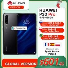 Version mondiale Huawei P30 Pro 6GB 128GB Kirin 980 Octa Core Smartphone 50x Zoom numérique Quad caméra 6.47 ''plein écran OLED