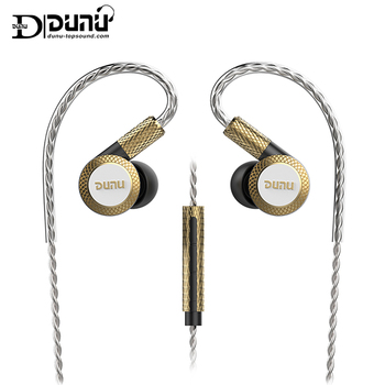 DUNU DM380 Hi-Res Linear Layout Triple Titanium Diaphragm Driver In-ear Earphone with HiFi Active Crossover MIC Easily Driven 1
