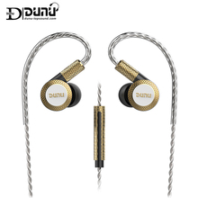 DUNU DM380 Hi Res Linear Layout Triple Titanium Diaphragm Driver In ear Earphone with HiFi Active Crossover MIC Easily Driven