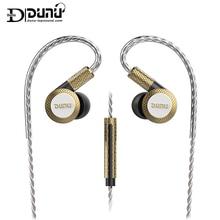 DUNU DM380 Hi Res Lineare Layout Tripla Membrana In Titanio Driver In ear Auricolare con HiFi Crossover Attivo MIC facilmente Guidato