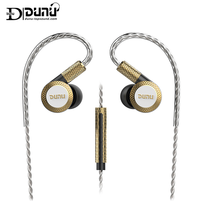 Dunu dm380 hi res layout linear triplo titânio diafragma driver in ear fone de ouvido com alta fidelidade ativo crossover mic facilmente conduzido