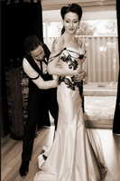 Vintage Classic Gothic Wedding Dress Black and White Wedding Dresses Sweetheart Sleeveless Lace Appliques Corset Bridal Gowns