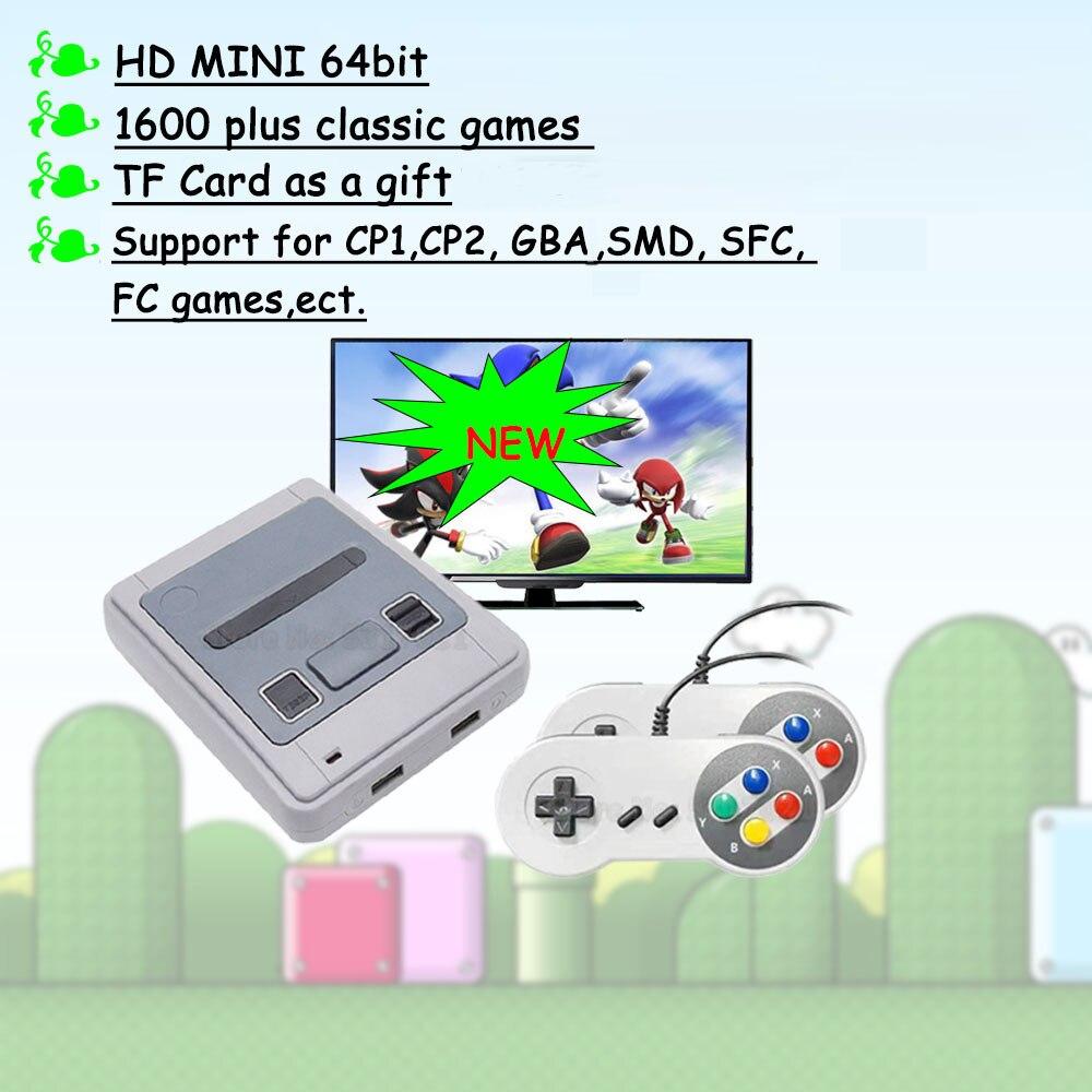 4k HD 64 бит 1600 игр HDMI аркадная видео игровая консоль эмулятор ТВ Портативный Ретро игровой геймпад для Sega для Super Nintendo подарок