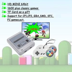 4k HD 64bit 1600 Games HDMI Arcade Video Game Console Emulator TV Portable Retro Gaming Gamepad For Sega For Super Nintendo Gift