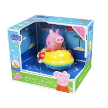 Original peppa Pig Little Girl Boat Baby Water Toy Clockwork Car Land  Doll Children Beach Bath pink pig