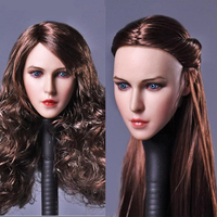 1/6 Scale Female Real Hair Beauty Head Sculpt for 12inch Phicen doll Action Figure Body Accessories DIY DSTOYS D009