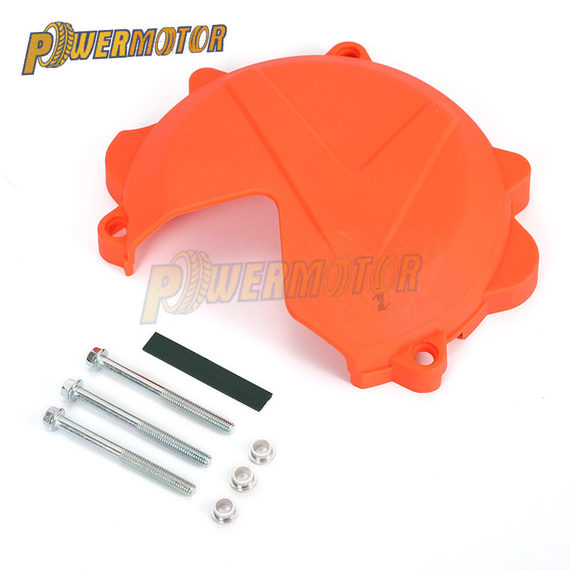 Motorcycles Plastic Clutch Guard Protector Case Cover For <font><b>KTM</b></font> SXF/XCF450 2016 <font><b>2017</b></font> 2018 EXC-F/EXC-F Six Days <font><b>450</b></font>/500 <font><b>2017</b></font> 2018 image