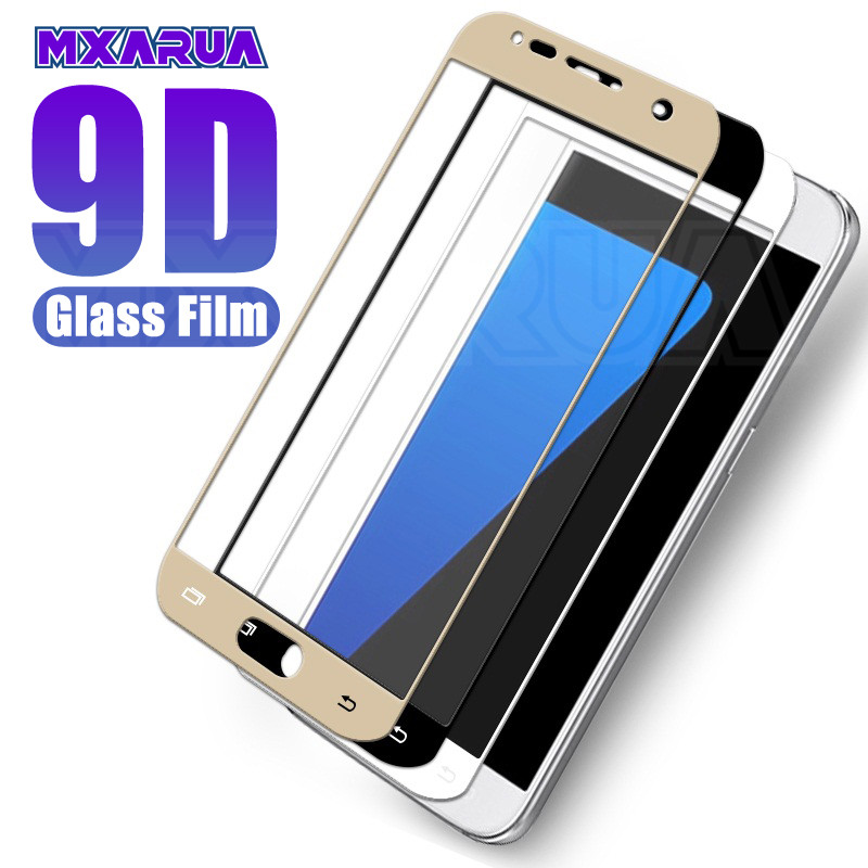 9D Full Cover Tempered Glass On For Samsung Galaxy S7 A7 A5 A3 2017 J3 J5 J7 2016 2017 Screen Protector Protective Glass Film