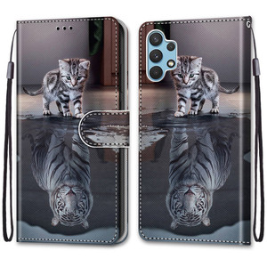 Image 2 - Etui On For Samsung Galaxy A32 4G A32Lite 6.4 inch Case Wallet Flip Leather Case For Samsung A32 5G 6.5 Cute Animal Phone Cover
