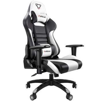 Furgle Modern Gaming Chair Computer Chair Armchair Rocking  Reclining Chair with PU Leather WCG Game Chairs for Office Furniture reclining office chair rocking computer chair thickened cushion 145degree lying adjustable bureaustoel ergonomisch sedie ufficio