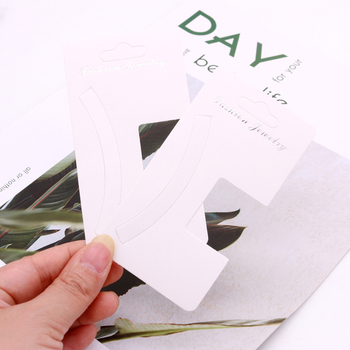 Simple 6*13cm White color DIY blank hair claw/barrette products packing card paper hair clip display card 100pcs per lot фото