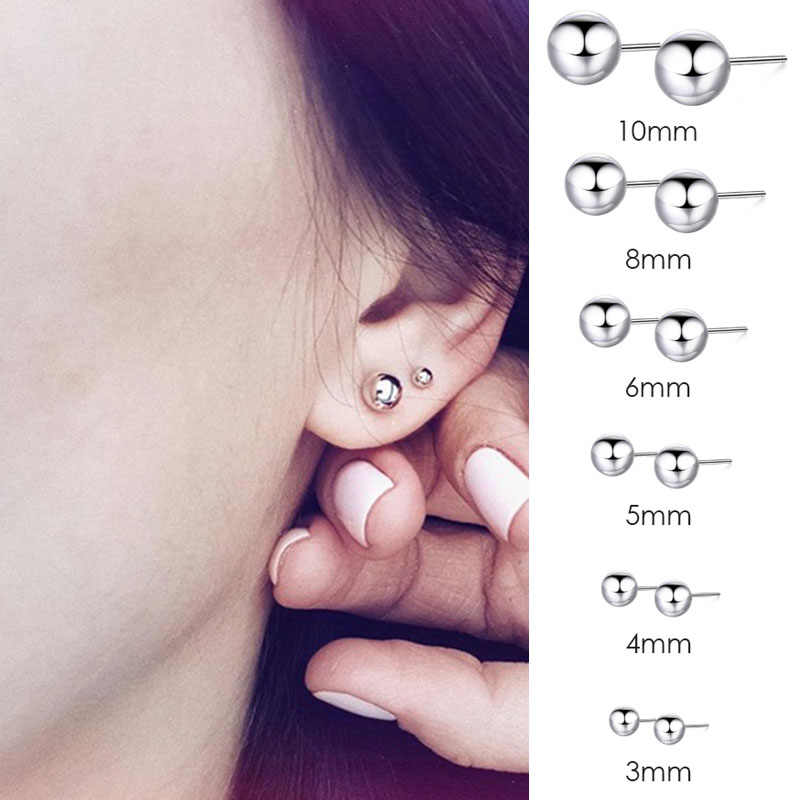 Korean Fashion Style Ladies Stainless Steel Earrings Luxury Rose Gold Earrings Set Small Earrings Fashion Jewelry Gift 2019