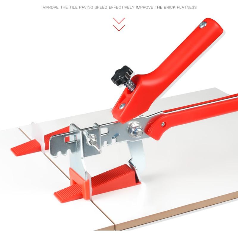 Точная система выравнивания плитки зажимы и клинья + 1 ПЛИТКА Плоскогубцы плоское выравнивание стены пластиковые прокладки инструмент конс