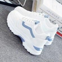 Женская обувь из вулканизированной кожи; Повседневная модная обувь; Новинка года; женские удобные дышащие белые туфли на плоской подошве; женские кроссовки на платформе; Chaussure Femme