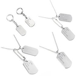 Военная Армейская Тактическая Гравировка Имени ID Тегов Карты Подвеска Мужчины Ожерелье Подвески Из Нержавеющей Стали Мода Keychain Men Jewelry