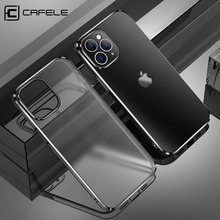 Cafele Original Matte For iPhone 12 Pro Max Case Luxury Soft Silicone Cases For iPhone 12 Mini Transparent Anti-knock Back Cover