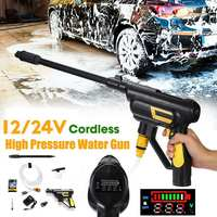 12/24V Handheld Cordless Automobiles Wash Spray Guns Deep Clean Washing High Pressure Car Washer Dry Cleaning