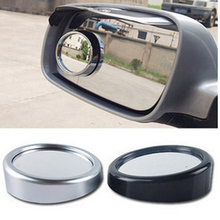 2pcs 360 Degee Car Rearview Mirrors Adjustable Rotatable Blind Spot Rear View Mirror Exterior Auto Wide Angle Round Glass Convex