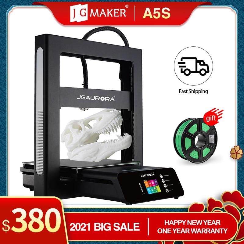 JGMAKER 3D-принтер A5 обновленный A5S полностью металлический Набор для творчества Экстремальная Высокая точность большой размер печати 305x305x320 мм...