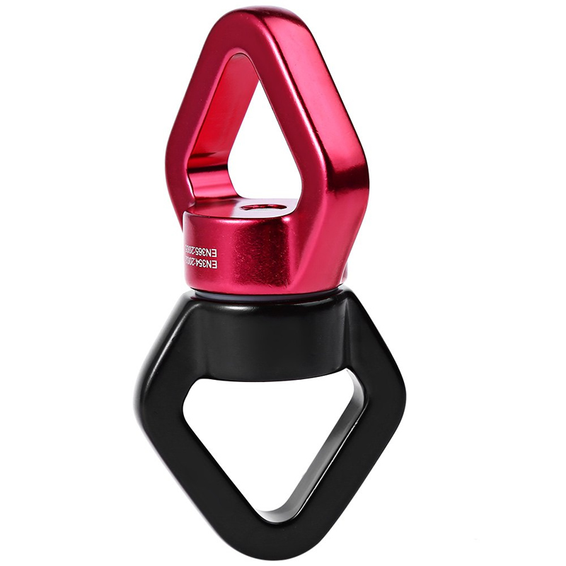 1 ensemble d'accessoires de hamac de Yoga aérien volant robuste (2 * mousquetons + 1 * descendeur d'anneau + 1 * pivot de cardan + 1 * chaîne de marguerite) - 4