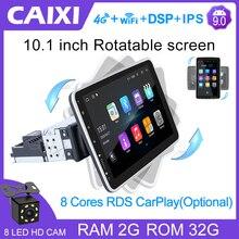 CAIXI Rotatable 1 din 10 Inch Android 9.0 Car Radio Multimedia Player For ford Nissan Toyota Kia vw Suzuk Hyundai Peugeot  Honda