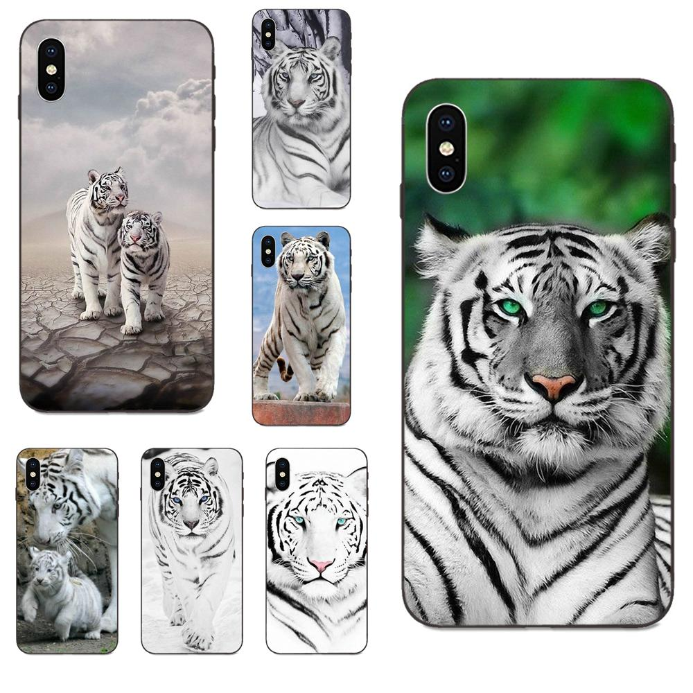 For Huawei Honor 5A 6A 6C 7A 7C 7X 8 8A 8C 8X 9 9X 10 10i 20 Lite Pro Soft Cell Phone Case An Animal White Tiger Burning Bright image