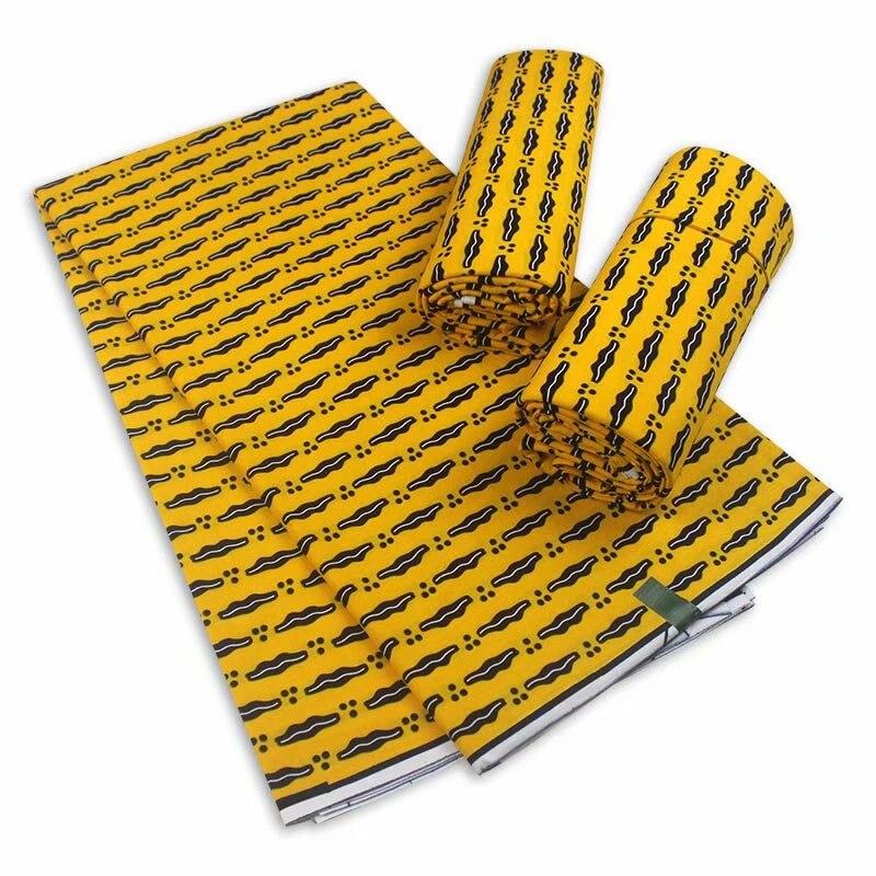 Гарантированная настоящий Африканский воск принты из вощенной ткани 6 ярдов в нигерийском стиле Анкара Материал 100% хлопок 2021 последние Ниг...