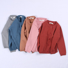 New Spring Autumn Winter Candy Color Cotton Cardigan Tops Baby Children Clothing Boys Girls Knitted Sweater Kids Clothes