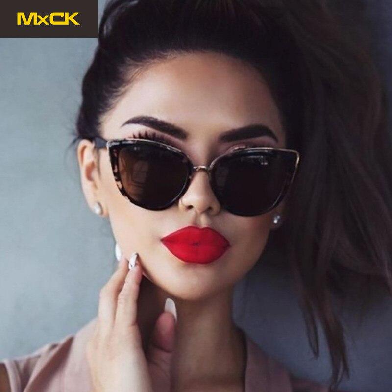 MxCK Brand Fashion Cat Eye Sunglasses Women Brand Designer UV400 Vintage Gradient Glasses Sexy Retro Cateye Sun Glasses Eyewear